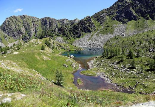 Lago di Soprasasso in Val di Rabbi