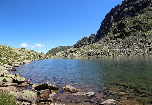 Il lago Rotondo a quota 2574 mt