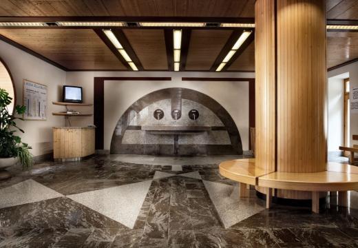 L'interno del centro termale