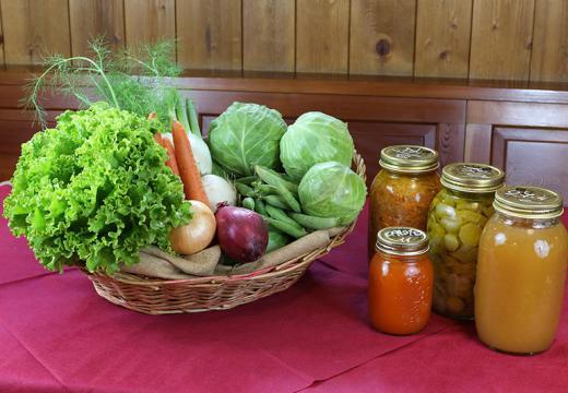 I prodotti dell'orto dell'azienda agricola Ruatti